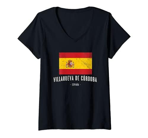 Mujer Villanueva de Córdoba España   Souvenir - Ciudad - Bandera -...