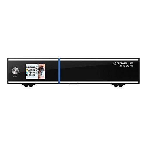 Gigablue UE UHD 4K 2160p 2xDVB-S2X FBC 1xDVB-S2X MS Tuner LCD E2 Linux Receiver Schwarz