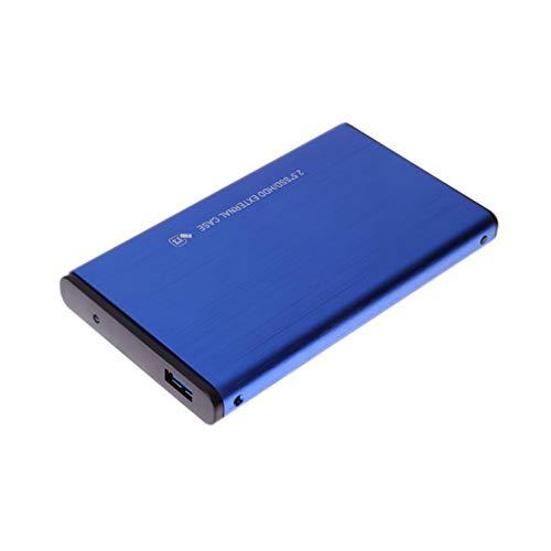 Uonlytech Unidad de Disco Duro Móvil de Alta Velocidad Portátil USB Portátil Disco Duro Externo Estuche Externo para Notebook (2Tb Azul)