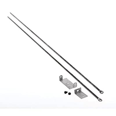 Copperfield 61090 Woodfield Hanging Fireplace Spark Screen Rod Kit, Includes Two 3/16 Inch Diameter x 32 Inch Rods, Mounting Brackets, Adjusts To Max Fireplace Opening of 58 Inch from Copperfield