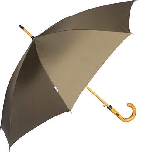 John's Umbrella Woodking Straight Fold Mono Colour Umbrella, 610mm (D Green)