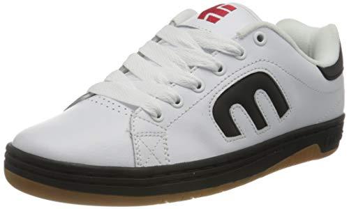 Etnies Calli-Cut, Chaussure de Skate Homme, Blanc/Noir/Rouge, 41.5 EU