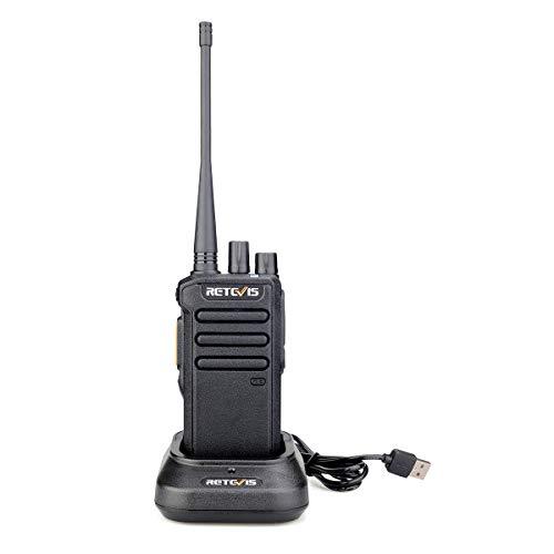 Retevis RT43 Walkie Talkie Digitale 5W 32 Canali DMR Dual Time Slot Radio Amatoriale VOX Compatibile con Motorobo Tier I & II (1 pezzo, nero)