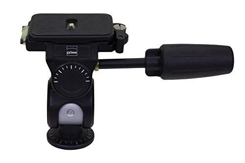 Dörr 3-weg statiefkop A Head 3D met frictie snelwisselplaat en snelontgrendeling (1/4 inch camera aansluiting, positieschaal, 2 geïntegreerde waterpas, 3/8 inch statische aansluiting)