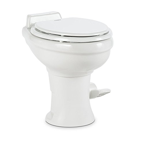 Dometic 320 Series Standard Height RV Toilet, White