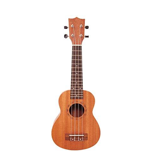 KEPOHK Ukelele de 23 pulgadas, guitarra de caoba soprano, madera de sapeli, 4 cuerdas, Mini guitarra hawaiana para principiantes, 23 pulgadas de madera