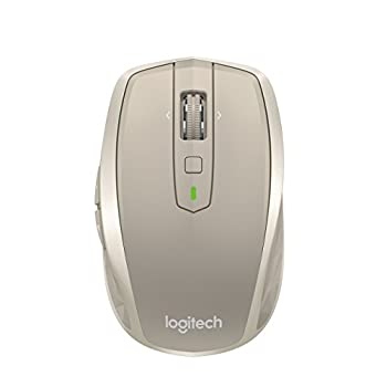 Logitech MX Anywhere 2 Wireless Mobile Mouse Long Range Wireless Mouse with Hyper Scroll and Easy-Switch up to 3 Devices – Stone