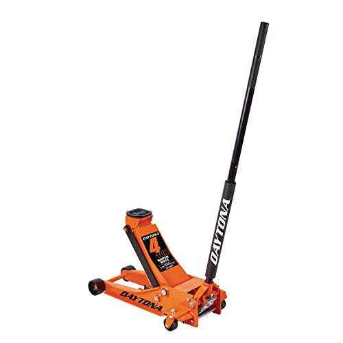 4 ton Steel Heavy Duty Floor Jack with Rapid Pump - Orange