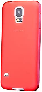 iCues Case Compatible with Samsung Galaxy S5 NEO & S5 TPU Rubber Gel Soft Silicone Matt Red [Screen Protector Included] Cover Shell Shookproof