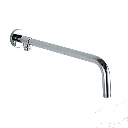 40cm Brazo de ducha para alcachofas fijas y cabezal de ducha en acero inoxidable,Cromo Pulido