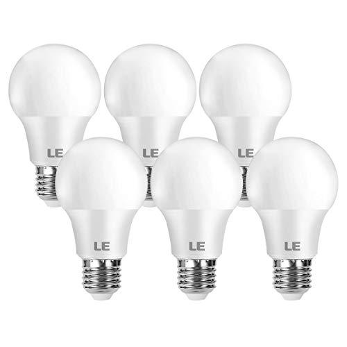 LE E27 LED Birne, 8.5 Watt 806 Lumen LED Lampe E27, ersetzt 60W Glühbirne A60 Leuchtmittel E27, 2700 Kelvin Warmweiß LED Bulb, 6er Set, 180° Energiesparlampe