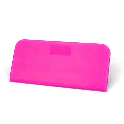 Pink Rubber Squeegee, Vinyl Wrap Squeegee, Soft Glass Squeegee, for Installing Car Vinyl Wrap, Window Tint Film and Screen Printing,4.7x2.2in,2Pcs