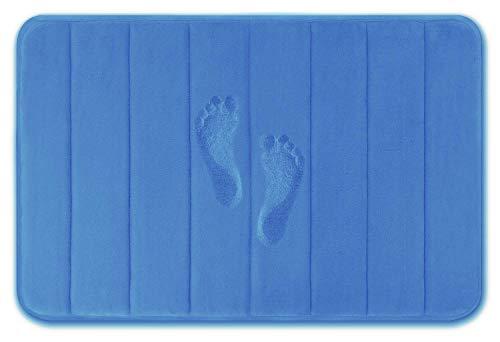 YIQI Alfombra de baño Alfombras de baño, Antideslizante Alfombra de baño antibacteriana Alfombra de baño Suave Alfombra de baño para bebés Seguridad (40x60 cm, Azul)