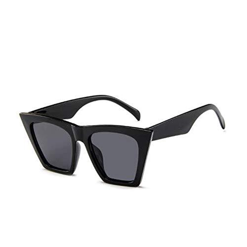 GJDBBLY Occhiali da sole Occhiali da sole vintage in plastica da donna Occhiali da vista color caramella Occhiali da viaggio Classic Retro Outdoor Travel 153mm Nero