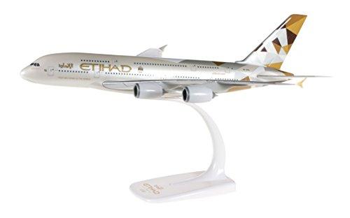 Herpa A380 Miniatur zum Basteln, Sammeln und Als Geschenk 610629-Etihad Airways Airbus A380-Miniatura per bricolage, Collezione e Regalo, Multicolore, 610629
