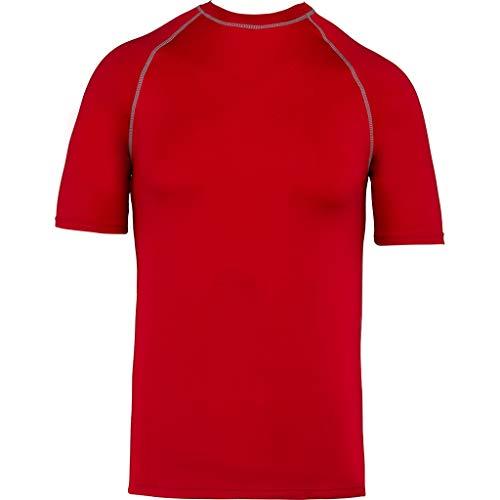 Proact - Camiseta Surg para niños niñas (12-14 Años) (Rojo Deportivo)