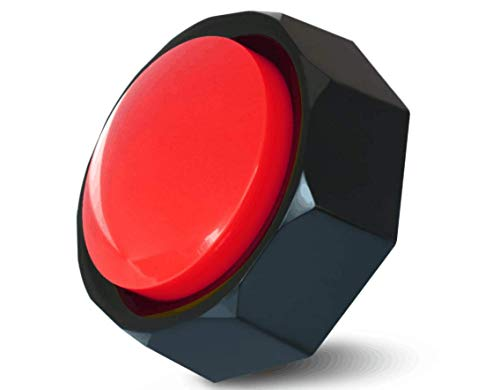 Z-DADA Recordable Button - Answer Buzzer - Now Record Any 30 Seconds Custom Message (Battery Included) (Red-Black)
