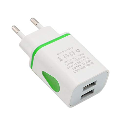 wufeng 2 Piezas de la energía del USB Cargador de Pared Dual 2A 2A Puerto de Salida del Recorrido del Adaptador de Enchufe de energía Compatible para el teléfono Enchufe de la UE