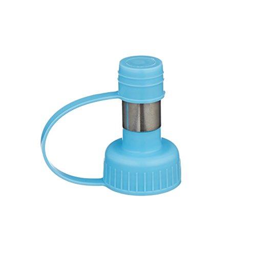 Scarlet pet | Trinkaufsatz »Care« passend für PET-Flaschen; Schraub-Adapter Macht Jede Wasserflasche zum Wasserspender; Selbsttränke für Haustiere wie Hunde u. Katzen (Blau)