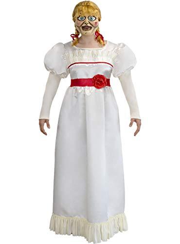 Funidelia | Disfraz de Annabelle Oficial para Hombre y Mujer Talla L ▶ Películas de Miedo, Expediente Warren, Halloween, Terror - Color: Blanco - Licencia: 100% Oficial