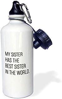 Queen54ferna My Sister Has The Best Sister In The World aluminium sport vattenflaska vit vandring gym skola camping vatten...