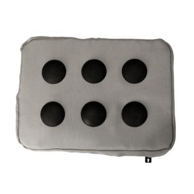 bosign Laptopkissen Kniekissen Polyester Silberschwarz 37x27x6 cm