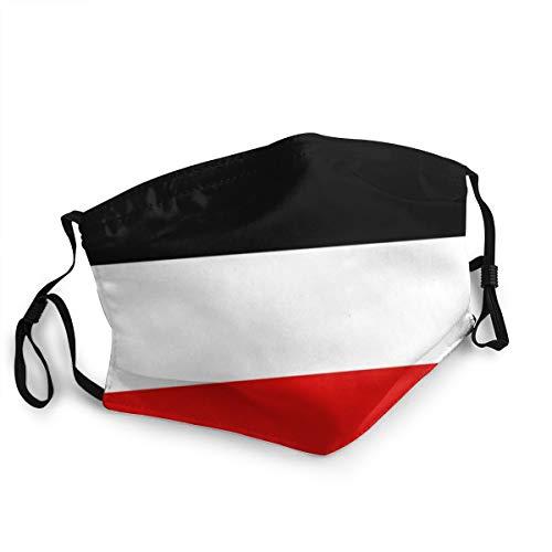 Alte Flagge des Deutschen Reiches Einstellbare Mundbedeckung Waschbare Gesichtsmaske Kopftuch Sturmhaube Wiederverwendbare Halstuch