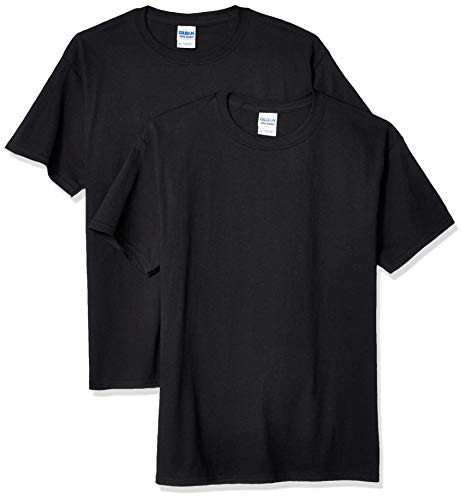 Gildan Kids' Big Ultra Cotton Youth T-Shirt, 2-Pack, Black, X-Large