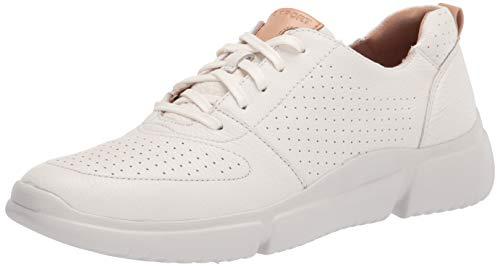 Rockport Women's R-Evolution Perf Lace Walking Shoe, White Washable, 10