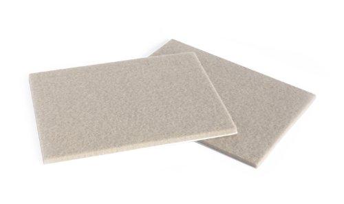 Slipstick CB061 Heavy Duty Felt Protector Pads (2 Pack) 4-1/2 Inch x 6 Inch Self Stick Furniture Felt Sheets / Pads