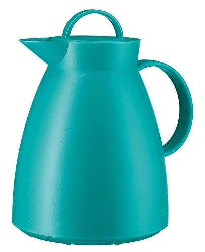 alfi Thermoskanne Dan, Teekanne Kunststoff gefrostet Tükies 1,0l, Isolierkanne mit Glaseinsatz, 12 Stunden heiß, 24 Stunden kalt, große Öffnung für Teebeutel und Teefilter, BPA-Frei, 0935.080.100
