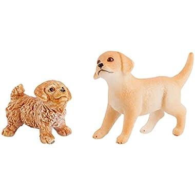 Almencla PVC Realistic Animals Model Toys Animals Figures Miniature Sand Table Scenes Decor Gifts Playset – Dog