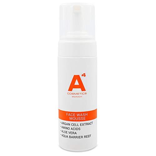 A4 - FACE WASH MOUSSE | Reinigungssaum, Make-Up Entferner | Gesichtsreinigung | Arganblatt-Zellextrakt und Aloe Vera (150ml)
