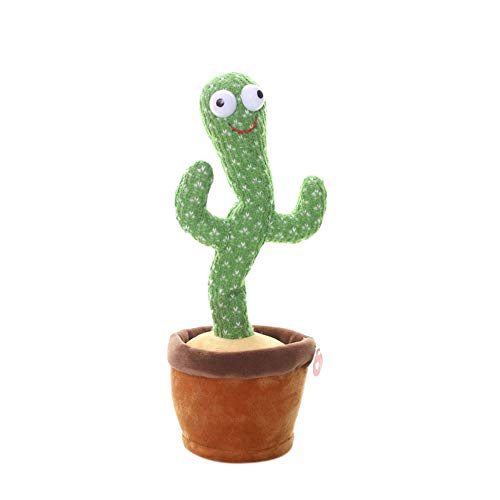 Childrens Plush Toys Dancing Toys Wiggles and Dances,Cactus Ornament Funny Childhood Education Toys Shake Plush Plant Toy (Green, One Size)