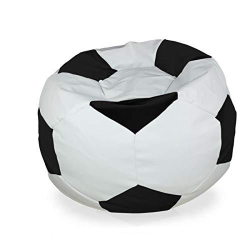 Italpouf - Puf de balón de fútbol Grande XL