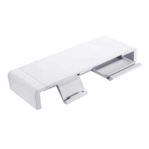 Notebook standaard Computer Monitor Bracket Bureau Storage Shelf Keyboard Afwerking Beugel, in hoogte verstelbare Monitor Stand Notebook stand (Color : White)
