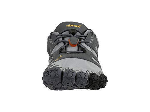 Vibram FiveFingers V-Trail, Zapatillas de Running para Asfalto Hombre, Gris (Grey/Black/Orange Grey/Black/Orange), 39 EU