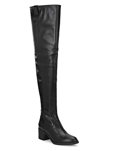 Delize Women's Thigh high Boots (Black, Numeric_4)