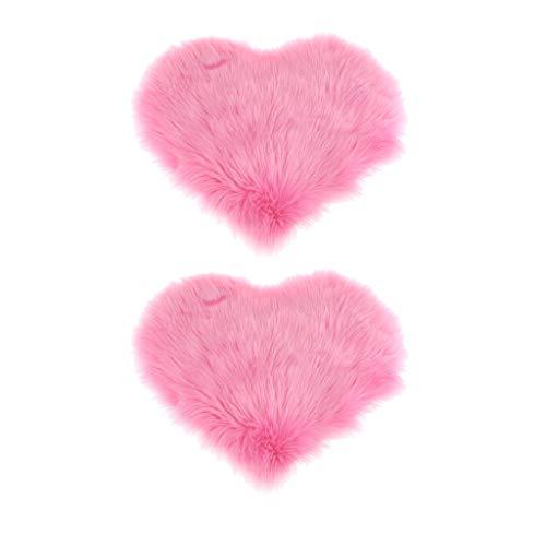 2pcs Plüsch Kissenbezug Kissenhülle Flausch Kopfkissen Kissen Bezüge Hülle, Farbwahl - rosa