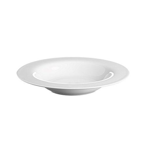 Price and Kensington Simplicity 21.5Cm Rim Soup Plate, Porcelain, White, 21.5 cm