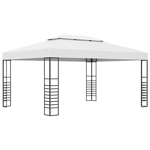 LXDDP Garden Gazebo with Powder-Coated Steel Frame | Patio Canopy Shelter Marquee | Party Tent 4x3x2.7 m