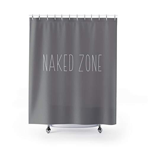 Shower Curtain Naked Zone Rae Dunn Inspired Fabric Like
