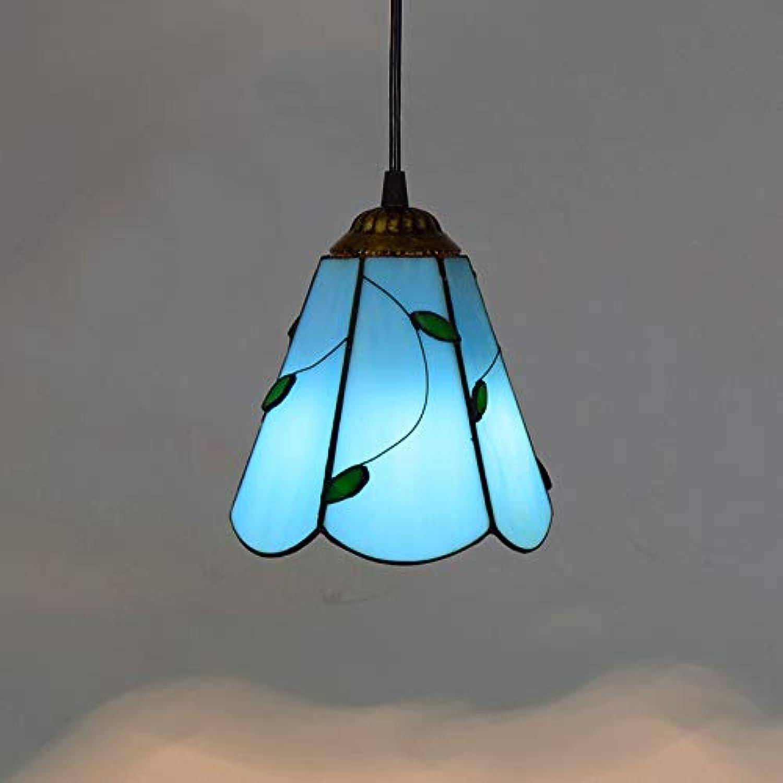 Die Hngelampe Pendelleuchten Kronleuchter Kreativer Leuchter Des Retro-Leuchterfarbglas-Idyllischen Restaurantbarzhlerflurganges, G