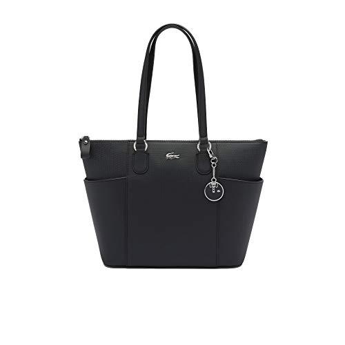 Lacoste NF3421DC, Zip Pockets Shopping Bag Femme, Noir, Taille Unique