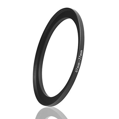 Ares Foto® Step Up Filteradapter Adapter Ring. CNC-gefrästes Aluminium. Kompatibel mit Objektiven Aller Hersteller: Canon Sony Nikon Fujifilm Olympus Pentax Leica Tamron Sigma (67mm – 77mm)