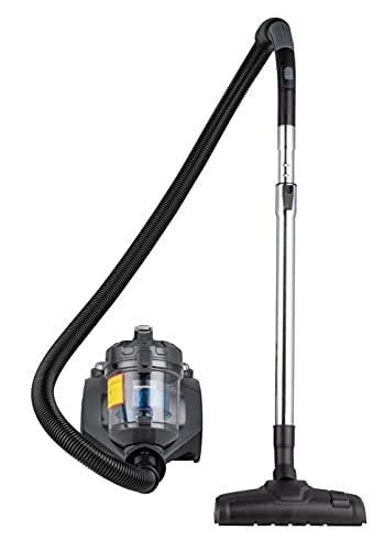 Amazon Basics – Potente aspirador de cilindro sin bolsa, para suelos duros y alfombras, filtro HEPA, compacto y ligero, 700W, 1,5l (UE)