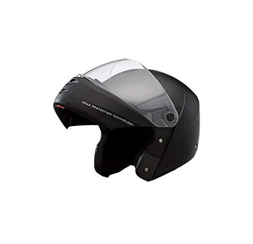 Studds Ninja ELITE Flip Up Full Face Helmet with Carbon Center Strip (Black, L)