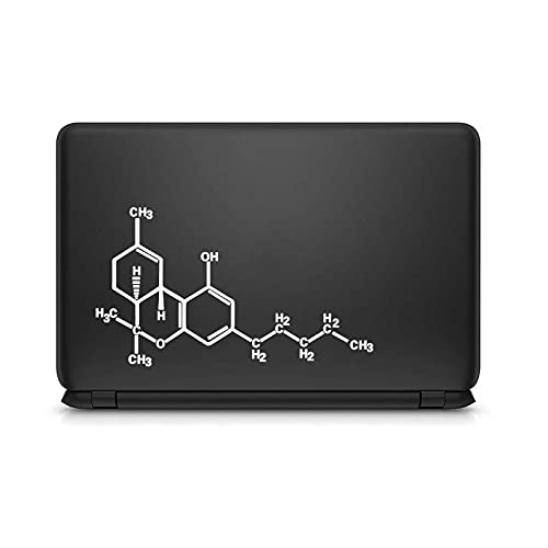 Chemistry Molecular Formula - Adhesivo para portátil MacBook Pro de 16 pulgadas Air Retina 11 12 13 15 pulgadas Mac Book Skin 14 vinilo adhesivo blanco para MacBook de 16 pulgadas