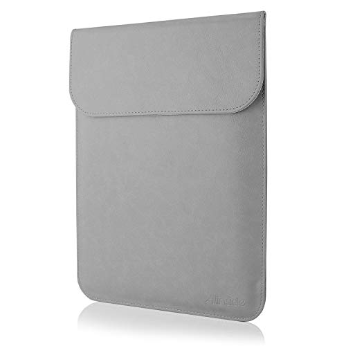 Allinside 15.6' Laptop Sleeve for MacBook Pro 15 2012-2015 (A1398)/ Pro 15 Retina 2016-2019 Touch Bar (A1990 A1707)/ MacBook Pro 16 (A2141), Synthetic Leather, Gray