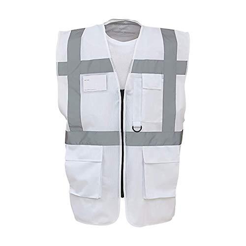 Yoko - Gilet Alta visibilità Multi - Tasche (Confezione da 2) (XXL) (Bianco)